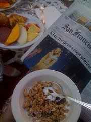 Frukost i trädgården på The Inn San Francisco