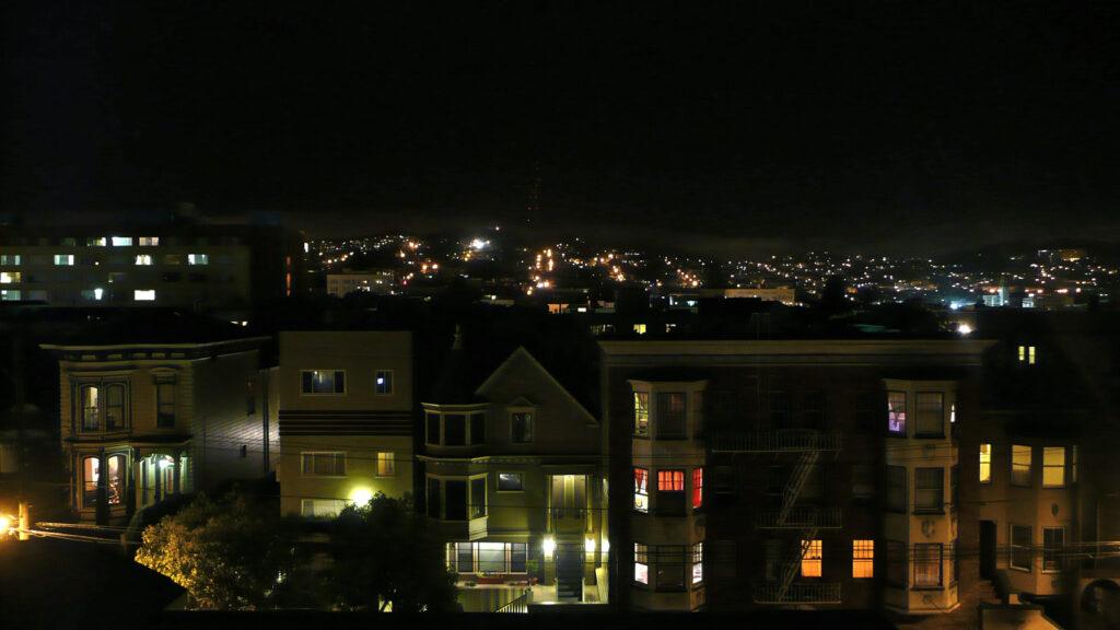 Utsikten från takterassen på The Inn 2009.