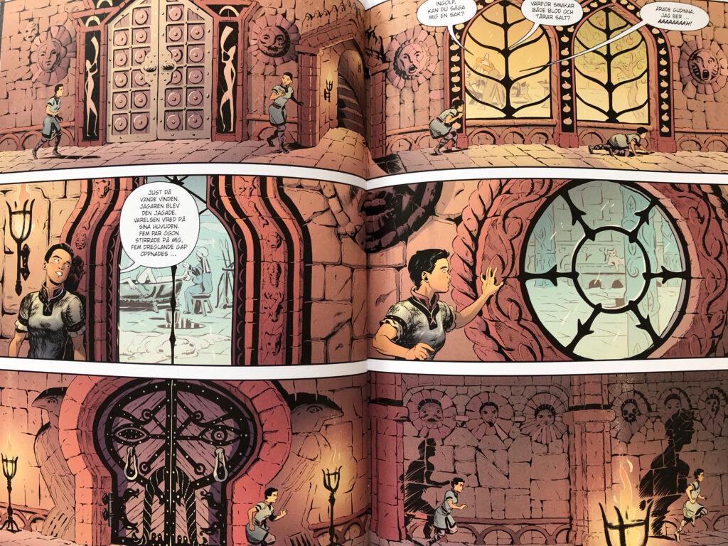 Vei rör sig i tiden och rummet på ett sätt som man bara kan i serieformatet.