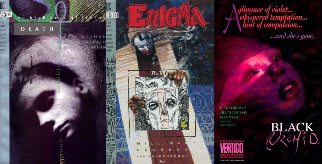 Death: The High Cost of Living, Enigma och Black Orchid var tre av serierna som Vertigo Comics gav ut 1993.